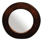 Καθρέπτης 70εκ. στρογγυλός ξύλινος